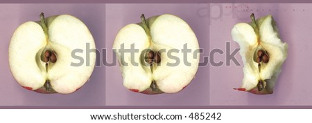 apple being eaten
