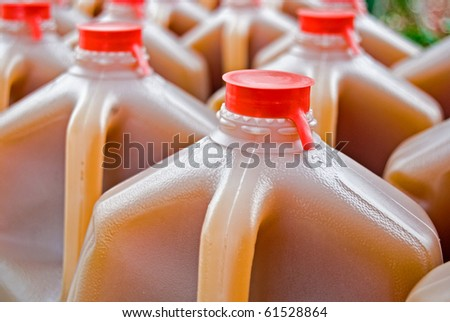 apple cider in gallon jug