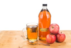 Apple cider vinegar with brewed tea, natural remedies and cures for common health condition