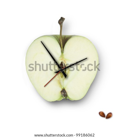 apple-clock. on a white background. isolated