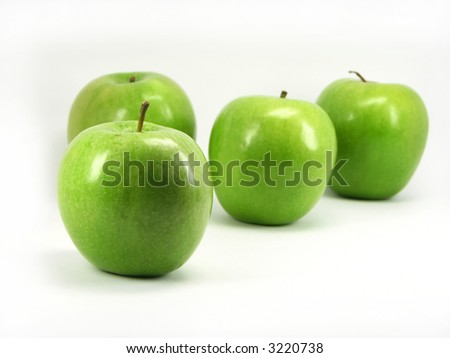 Apple close up on a background of apples.
