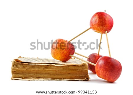 Apple construction and old book