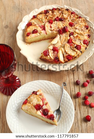 Apple Cranberry Tea Cake
