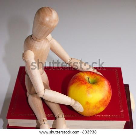 apple for the teacher closeup