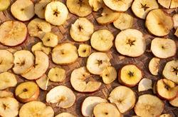 Apple Fruit Slices or Cut Seasoning In Sunlight