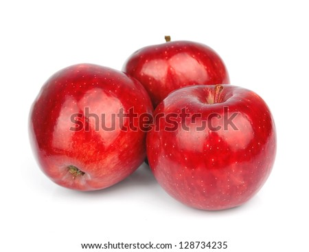 apple fruits isolated on white background