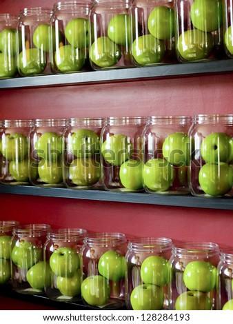Apple green.