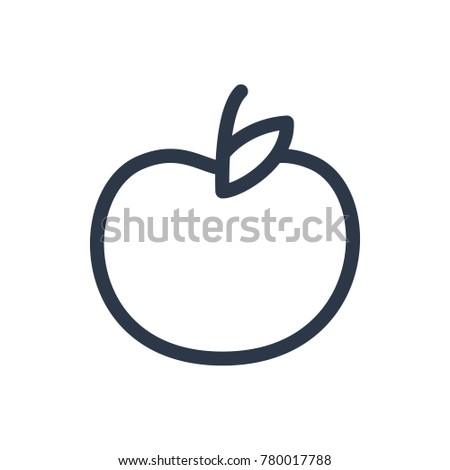 Stock Photo Apple icon. Isolated fruit and apple icon line style. Premium quality  symbol drawing concept for your logo web mobile app UI design.