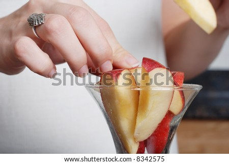apple in the cup symbolizes healthy living and nutritional value