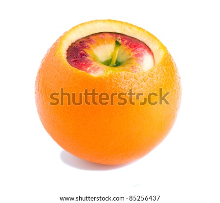 apple inside orange