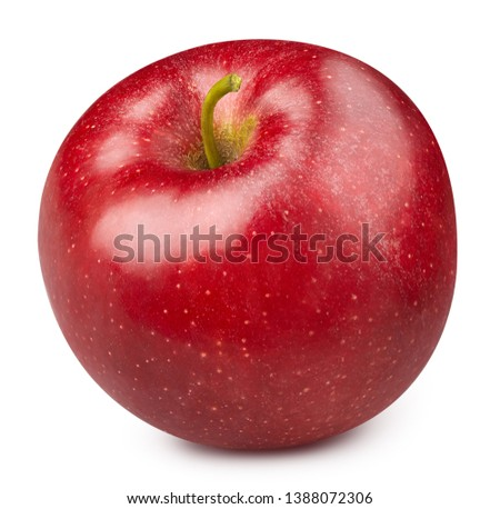 Apple isolated on white. Apple Clipping Path. Professional studio macro shooting