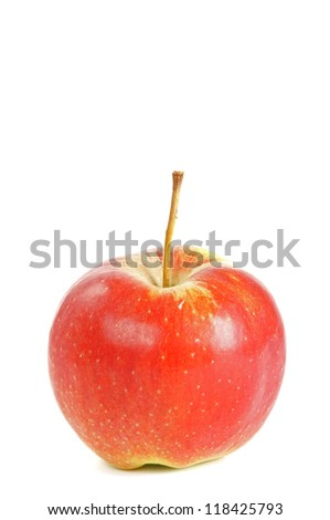 apple isolated over white / apple