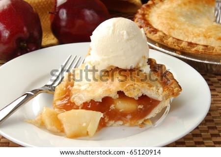 Apple pie and ice cream