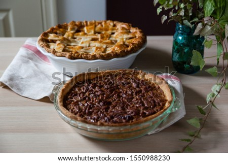 Apple pie and pecan pie for Thanksgiving #1550988230