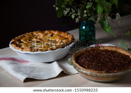 Apple pie and pecan pie for Thanksgiving #1550988233