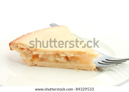Apple Pie on a white background