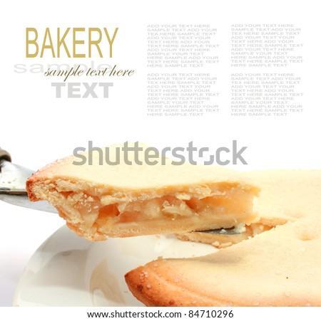 Apple Pie on a white background