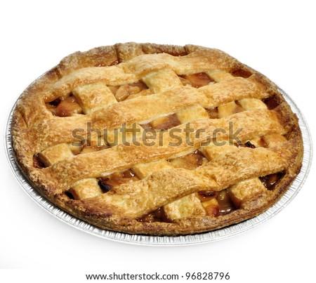 Apple Pie On White Background