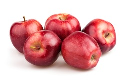 apple red group on white background