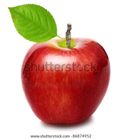 Apple red isolated