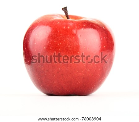 Apple red. Isolated on white background