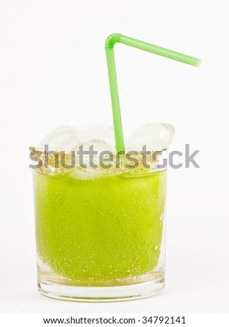 Apple soda with ice