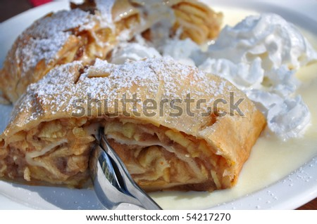 Apple Strudel (Apfelstrudel) is a typical dessert in Bavaria and Austria.