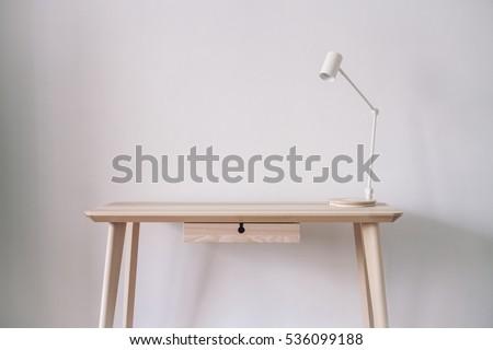 Apple style minimalist workplace mockup #536099188