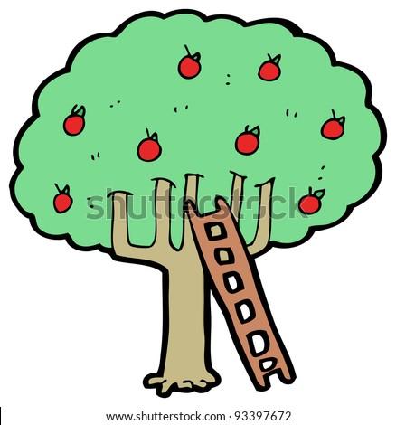 Apple Tree Cartoon Images Apple Tree Cartoon Raster