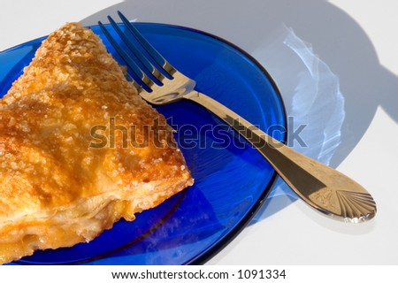 Apple Turnover with Fork