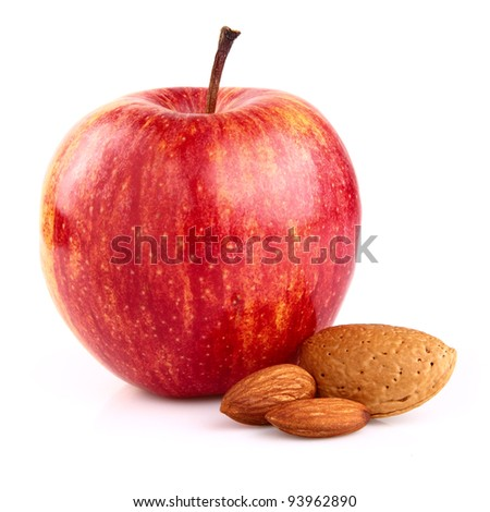 Apple with almonds