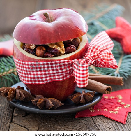 apple with bow and filling   #158609750