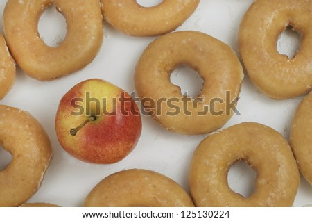 Apple With Donuts