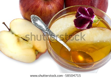 apple with honey food for jewish new year