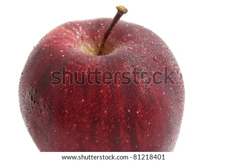 Apple with waterdrop isolated in white background