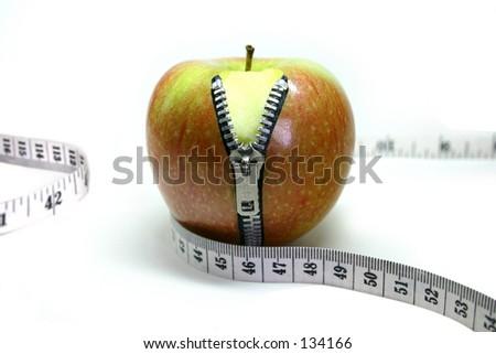 Apple zip - stock photo
