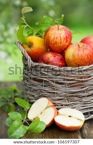 Apples, basket
