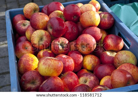 Apples for sale on marketplace