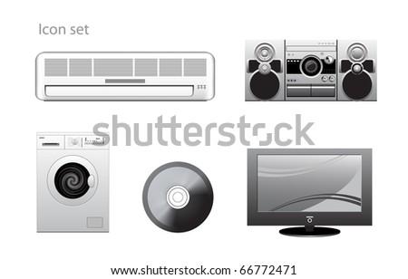 appliance icons set