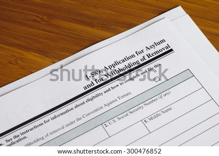 Application for asylum and for withholding of removal to fill out