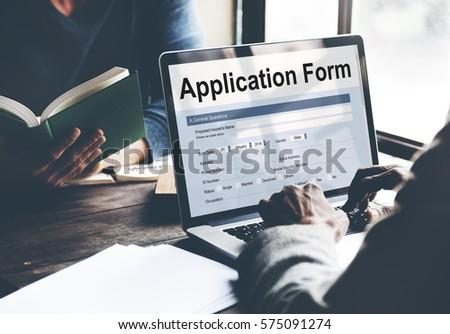 Application Form Information Employment Concept #575091274