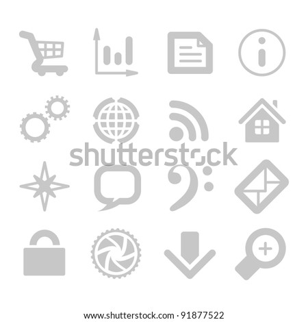 Application icons isolated on white background