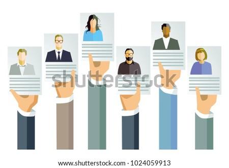 Application, job offer concept, Illustration