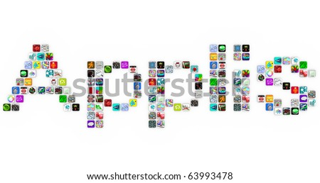 Applis - the French translation of Apps - made of application icons similar to those on a smart phone or other modern device