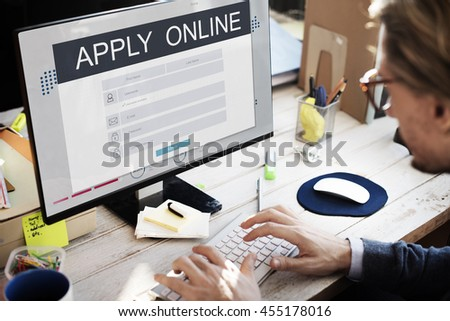 Apply Online Membership Registration Follow Concept