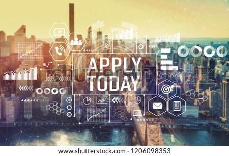 Apply today with the New York City skyline near midtown #1206098353