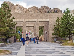 Approach concourse to the Mt. Rushmore National Monument, Keystone, South Dakota