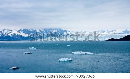 Approaching Alaska's Hubbard Glacier