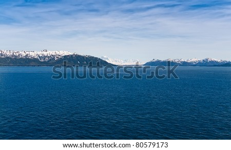 Approaching Glacier Bay National Park, Alaska