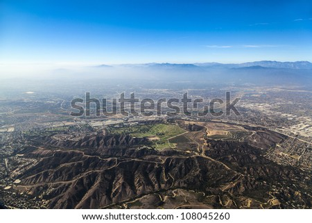 approaching Los Angeles Airport from the South